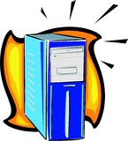 PC computer system. Illustration royalty free illustration