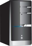 PC-Computerkontrollturm auf Weiß Stockbild