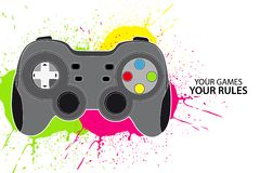 PC or console controller stock illustration