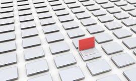 PC contaminado vírus Fotos de Stock