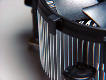 PC cooling fan. Close up macro Royalty Free Stock Photography