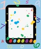 PC créateur de tablette pour des gosses Thumbprints coloré illustration libre de droits
