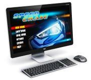 PC d'ordinateur de bureau de jeu Image libre de droits