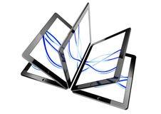 PC da tabuleta 3d, conceito do ebook Imagem de Stock