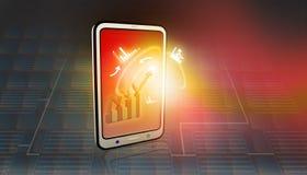 PC da tabuleta com ícones do negócio Fotos de Stock Royalty Free