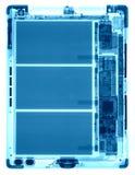 PC da tabuleta sob os raios X Imagem de Stock Royalty Free