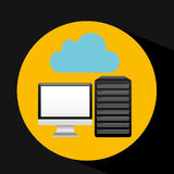 Pc data base cloud arrow Royalty Free Stock Photo