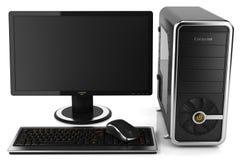 PC de bureau à la maison moderne Images stock