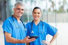 PC de la tableta de los médicos Foto de archivo