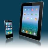 PC de la tablilla y teléfono móvil Fotos de archivo libres de regalías