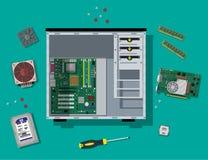 PC de montagem Material informático pessoal ilustração stock