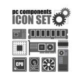 PC-de reeks van het componentenpictogram PC-de Dienst Royalty-vrije Stock Foto's