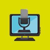PC-de spreker van de het schermmicrofoon Royalty-vrije Stock Afbeelding