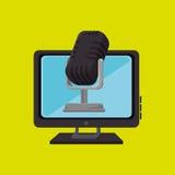 PC-de spreker van de het schermmicrofoon Royalty-vrije Stock Foto