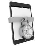 PC de tablette avec le blocage Photos libres de droits