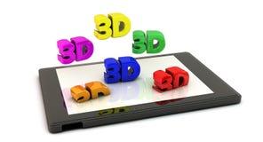 PC de tablette dans 3d Photo libre de droits