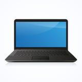 PC del computer portatile su bianco Fotografia Stock Libera da Diritti