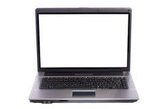 PC del computer portatile su priorità bassa bianca Immagini Stock Libere da Diritti