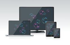 PC del monitor de computadora, del ordenador portátil y de la tableta Fotografía de archivo libre de regalías