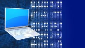 PC del ordenador portátil 3d Imagenes de archivo