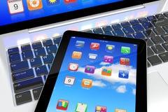Pc della compressa e del computer portatile Immagine Stock Libera da Diritti