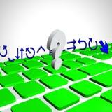 Pc della tastiera Fotografia Stock