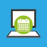 Pc device network calendar media icon Stock Photos