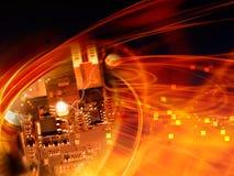 PC do cartão-matriz imagens de stock