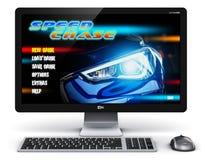 PC do computador de secretária do jogo Foto de Stock Royalty Free