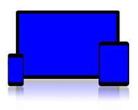PC e smartphones della compressa Fotografia Stock Libera da Diritti
