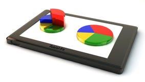 PC för Tablet 3d med grafiskt Arkivfoton