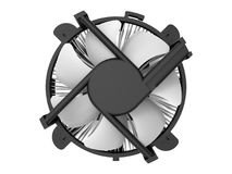 PC fan top view Royalty Free Stock Image