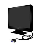 Pc Flat Monitor Royalty Free Stock Images