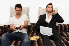 PC Gamer oder Geschäftsmann? Stockbilder