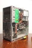 PC gravemente mantenida del ordenador fotografía de archivo