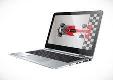 PC-het netwerk versnelt - versnel uw laptop - de hulpmiddelen van de softwarereparatie stock illustratie