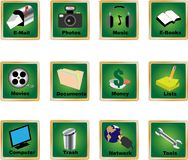 Pc icons 2 Royalty Free Stock Photo