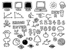 PC icons Stock Photo