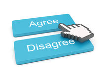 PC keyboard with Agree and Disagree keys Royalty Free Stock Photos