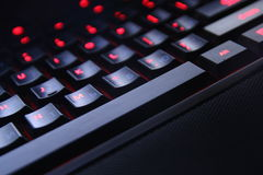 PC keyboard of black color closeup view Royalty Free Stock Images