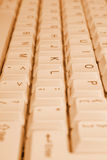 PC keyboard, close-up Royalty Free Stock Images