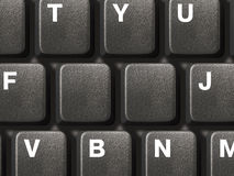 PC keyboard with two empty keys. Computer keyboard with two empty keys, clipping path for it Stock Photography