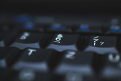 PC Keyboard - Used to enter data to computer. It is made of plastic and is mostly black. Royalty Free Stock Image