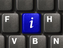 PC Keyboard With Information Key Stock Images