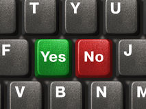 Free PC Keyboard With Yes And No Keys Stock Photography - 4079482