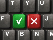 PC keyboard with Yes and No keys Royalty Free Stock Image