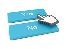 PC keyboard with Yes and No keys Stock Photography