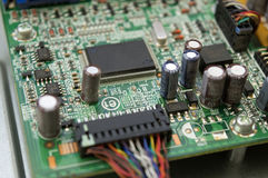 PC microchip close up Royalty Free Stock Photo