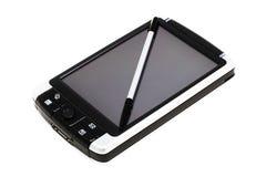 PC mobile nell'azione (isolata su bianco) Immagine Stock