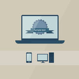 Pc, mobile phone and notebook Royalty Free Stock Photography